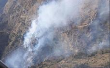 Controlado el incendio declarado en el Barranco de Lotrines en Abrucena
