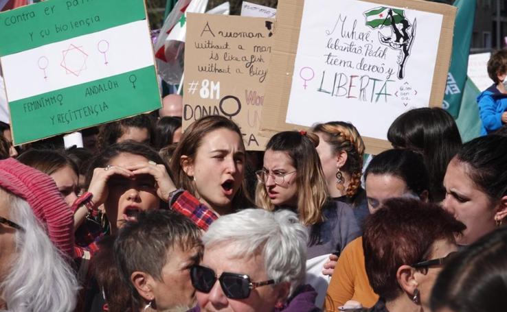 La manifestación por el 8M corta Gran Vía