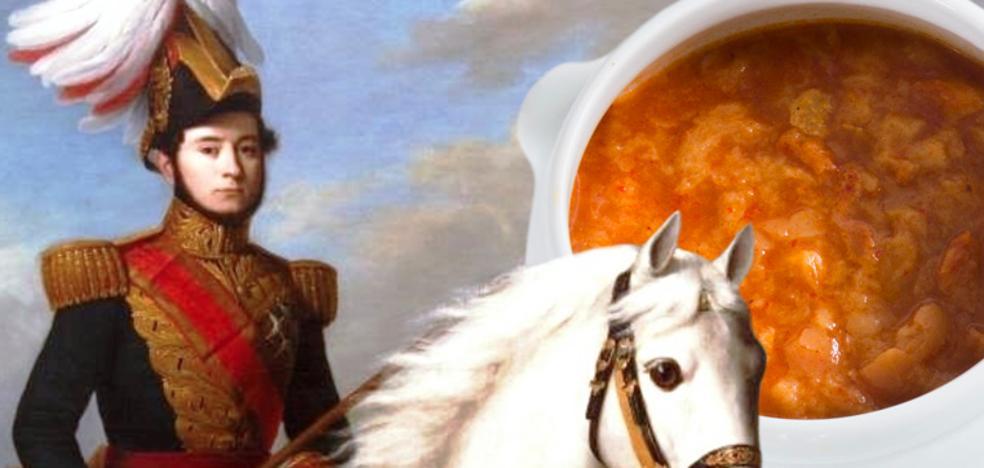 El general Prim y la sopa de ajo