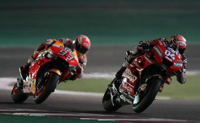 Dovizioso bate a Márquez en otro espectáculo de MotoGP