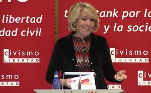 Esperanza Aguirre expone hoy en la UAL su modelo de España