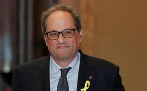 Torra se niega a retirar los lazos de la Generalitat y desafía a la junta electoral