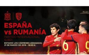 La selección española sub 21 se enfrenta a Rumanía en Los Cármenes. ¿Te lo vas a perder?