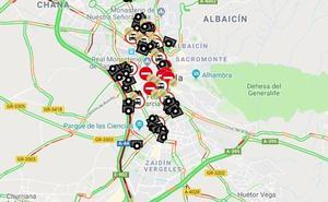 Un herido leve tras una colisión por alcance en la Circunvalación de Granada