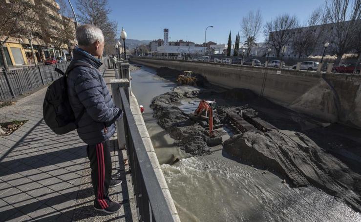 El antes y el después tras la limpieza del río Genil