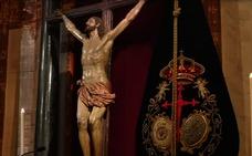 El Cristo de la Expiración preside el Vía Crucis de la Federación de Cofradías en la Catedral