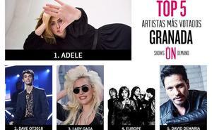 Descubre cuáles son los artistas más demandados en Granada esta semana