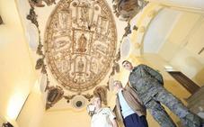 Los granadinos podrán visitar la espectacular cúpula del Convento de la Merced tras su restauración de urgencia