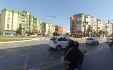 El vídeo de un atropello que denuncia el peligro de ir en patinete por Granada