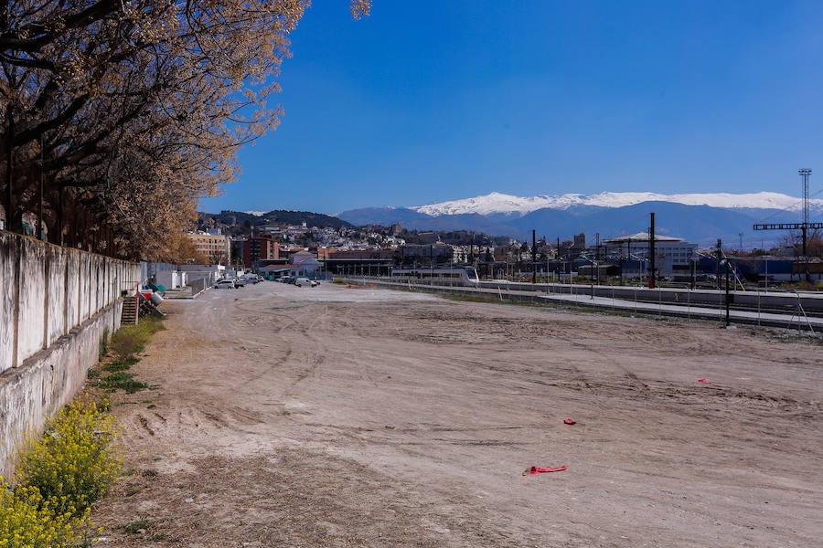 Así están las obras del aparcamiento de Andaluces