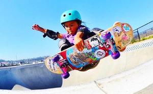 La niña 'skater' de 12 años que puede convertirse en la olímpica más joven