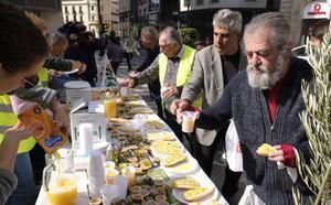 500 desayunos molineros para pedir un precio digno del aceite de oliva