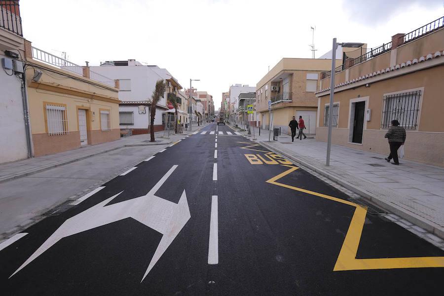 La mitad de la calle Ancha abre al tráfico esta tarde
