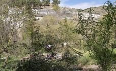El campamento ilegal instalado en la Fuente del Avellano, en imágenes