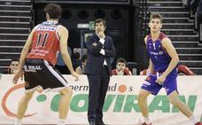 Diego Martínez y Pablo Pin, en una charla en la Facultad del Deporte