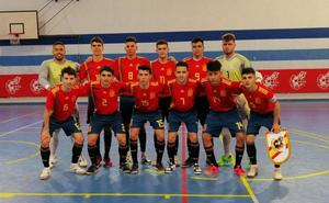 La selección Sub 19 de fútbol sala se despide de la provincia con victoria ante Portugal