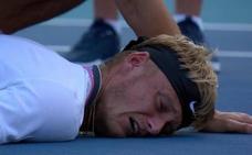 Kuhn, promesa del tenis español, colapsa durante un partido