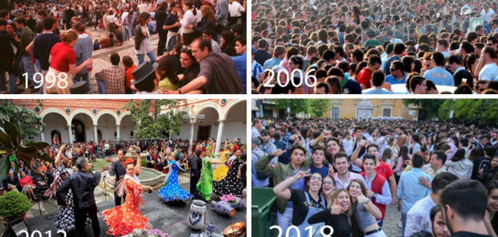 Veintiún años de Cruces en Granada con barras y sin ellas