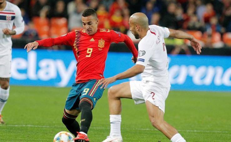 Las mejores imágenes del España-Noruega