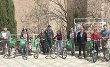 Bicicletas eléctricas puestas por la UJA para bajar al campus