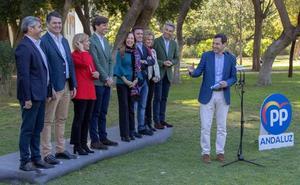 Juanma Moreno, satisfecho con los cabezas de lista elegidos por Casado