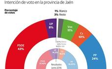 El PSOE recupera la hegemonía provincial y Vox desplaza a Unidas Podemos