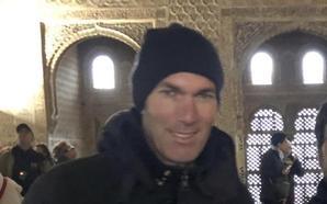 Zidane disfruta de la Alhambra