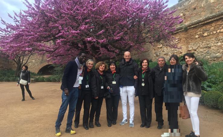 Así fue la visita de Zidane a la Alhambra