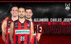Carlos de Cobos, Alejandro Bortolussi y Josep Pérez, renovados
