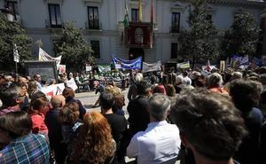 Cientos de personas salen en Granada contra las torres de alta tensión en la Alpujarra y Valle de Lecrín