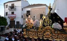 Procesión de la Virgen de las Angustias, en Alhama de Granada