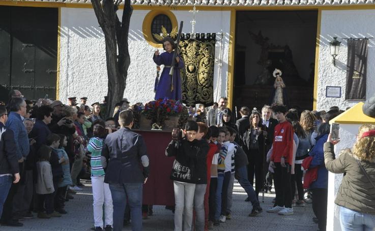 Huéscar celebra la procesión infantil de su Semana Santa
