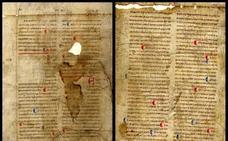 Hallan un valioso manuscrito medieval del siglo XIII archivado de Ourense