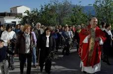Soportújar celebra el Domingo de Ramos con misa y procesión desde la ermita de San Antón