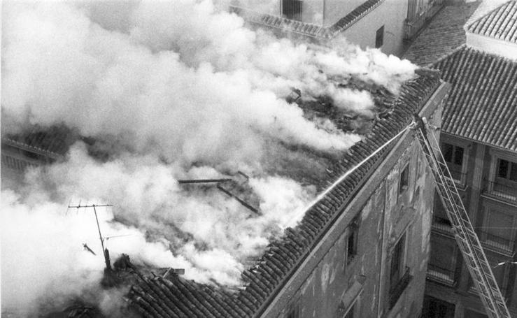 Incendios históricos en Granada