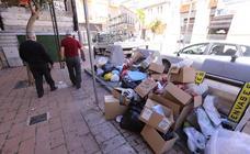 Primer día de huelga de basura en Motril