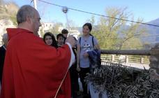 Soportújar celebra el Domingo de Ramos con una misa el la plaza y una procesión