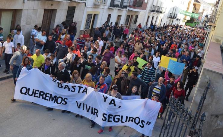 Manifestación en Guadahortuna contra la inseguridad