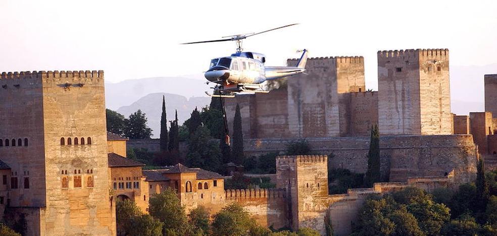 Un control 24 horas para que la Alhambra sobreviva a las llamas