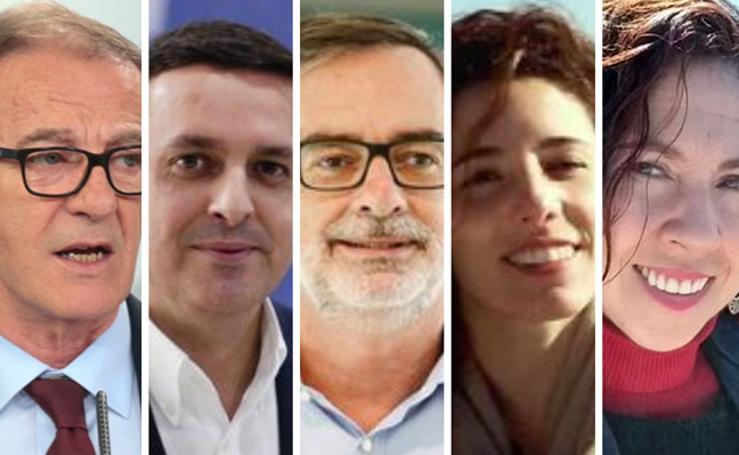 Los seis posibles diputados en el Congreso por Almería