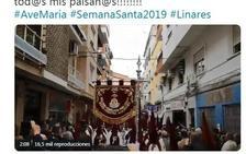 Raphael se emociona con la marcha del 'Ave María' en Linares