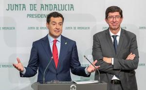 Moreno y Marín presumen de «sintonía»: «En Andalucía cumplimos»