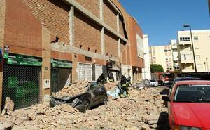 La zona del edificio derruido, en fotos