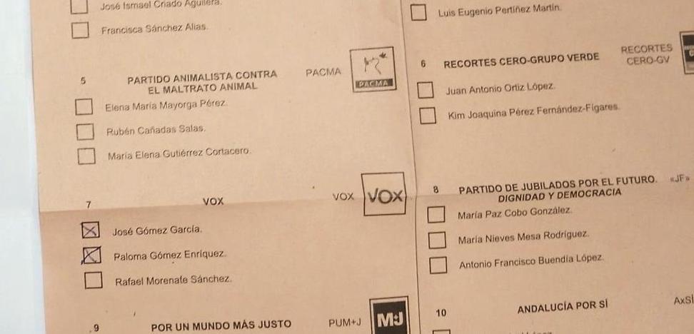 Una granadina denuncia que su voto por correo ha sido manipulado a favor de Vox