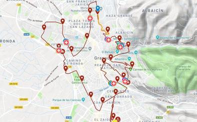 Todos los cortes de tráfico para hoy en Granada por la Media Maratón