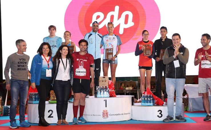 Las imágenes de los ganadores de la Media Maratón