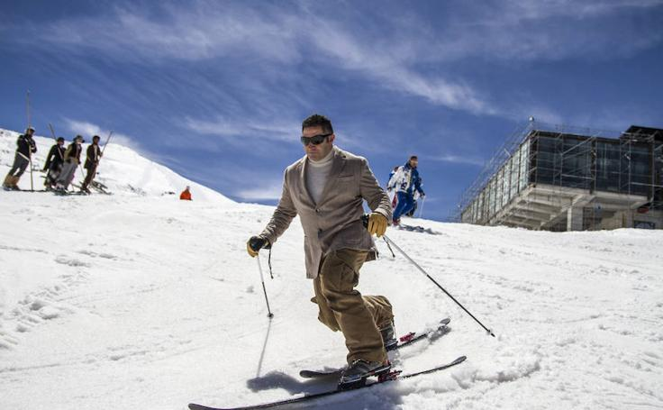 Esquí retro contra el cáncer