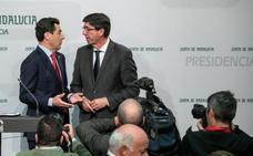 Marín promete a Moreno no exigir más en la Junta por el 'sorpasso' de Cs al PP