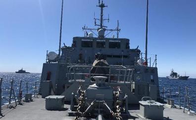 Cazaminas de la OTAN hacen un ejercicio en aguas de Alborán
