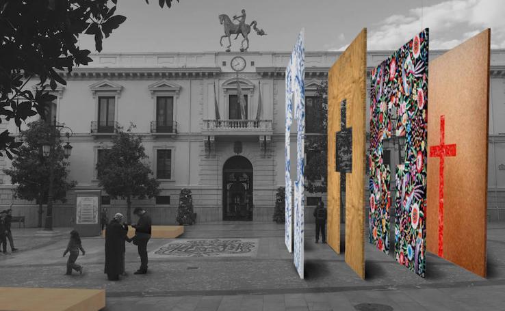 Así será la moderna Cruz que decorará la Plaza del Carmen el próximo 3 de mayo